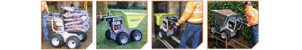mini dumpers by truxta powered barrows