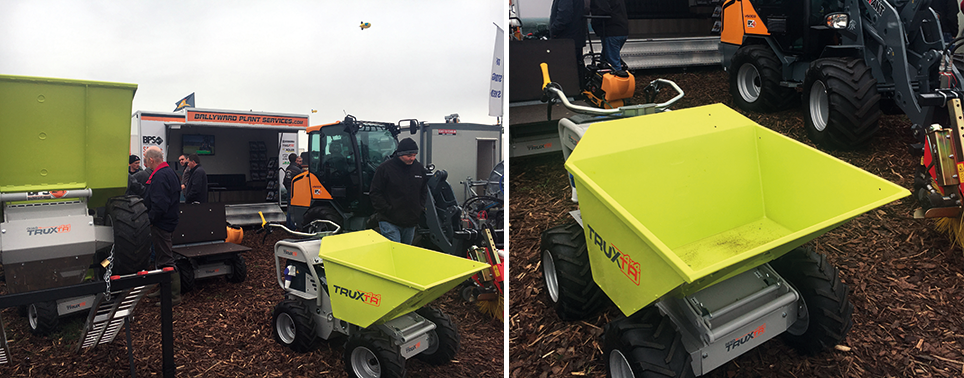 ballyward plant services mini dumper with ramp