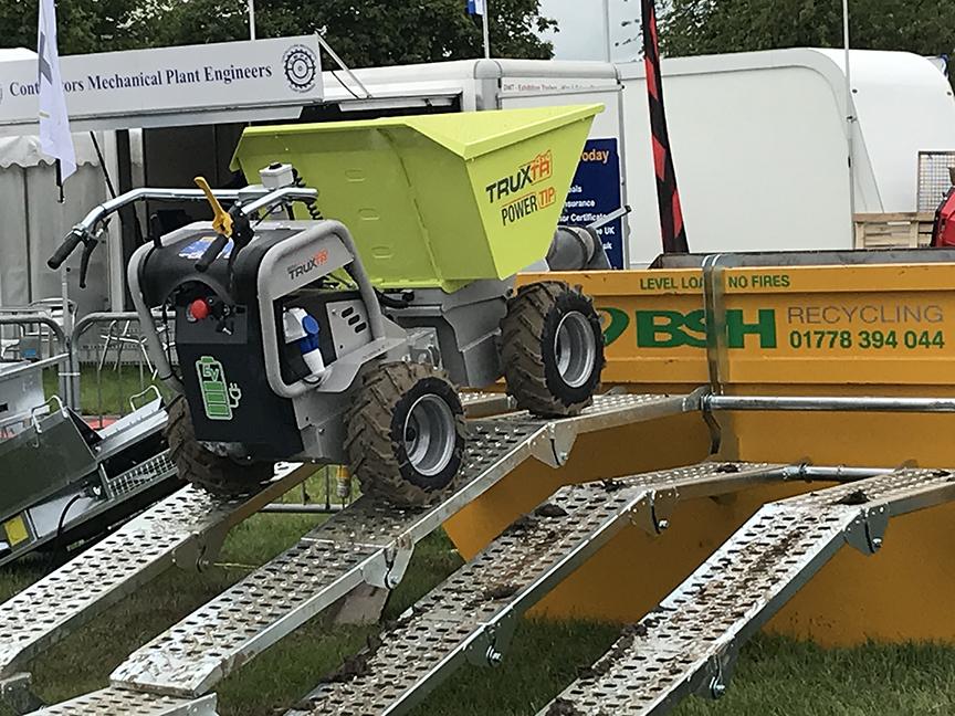 truxta mini dumper with ramp at Plantworx show 2020