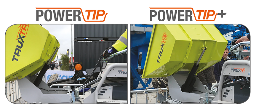 power tip high tip mini dumper truxta