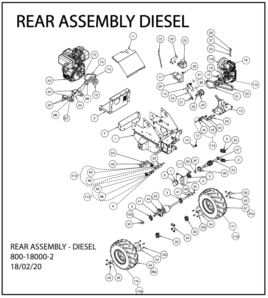 Rear Assembly Diesel Diagram