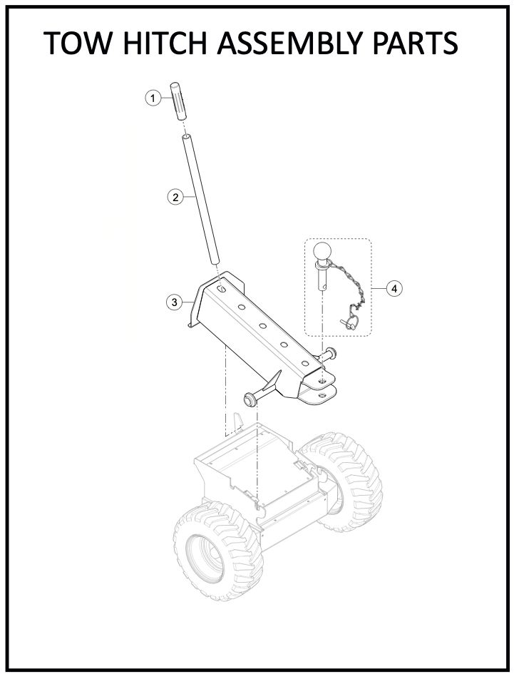 Tow Hitch Assembly Parts