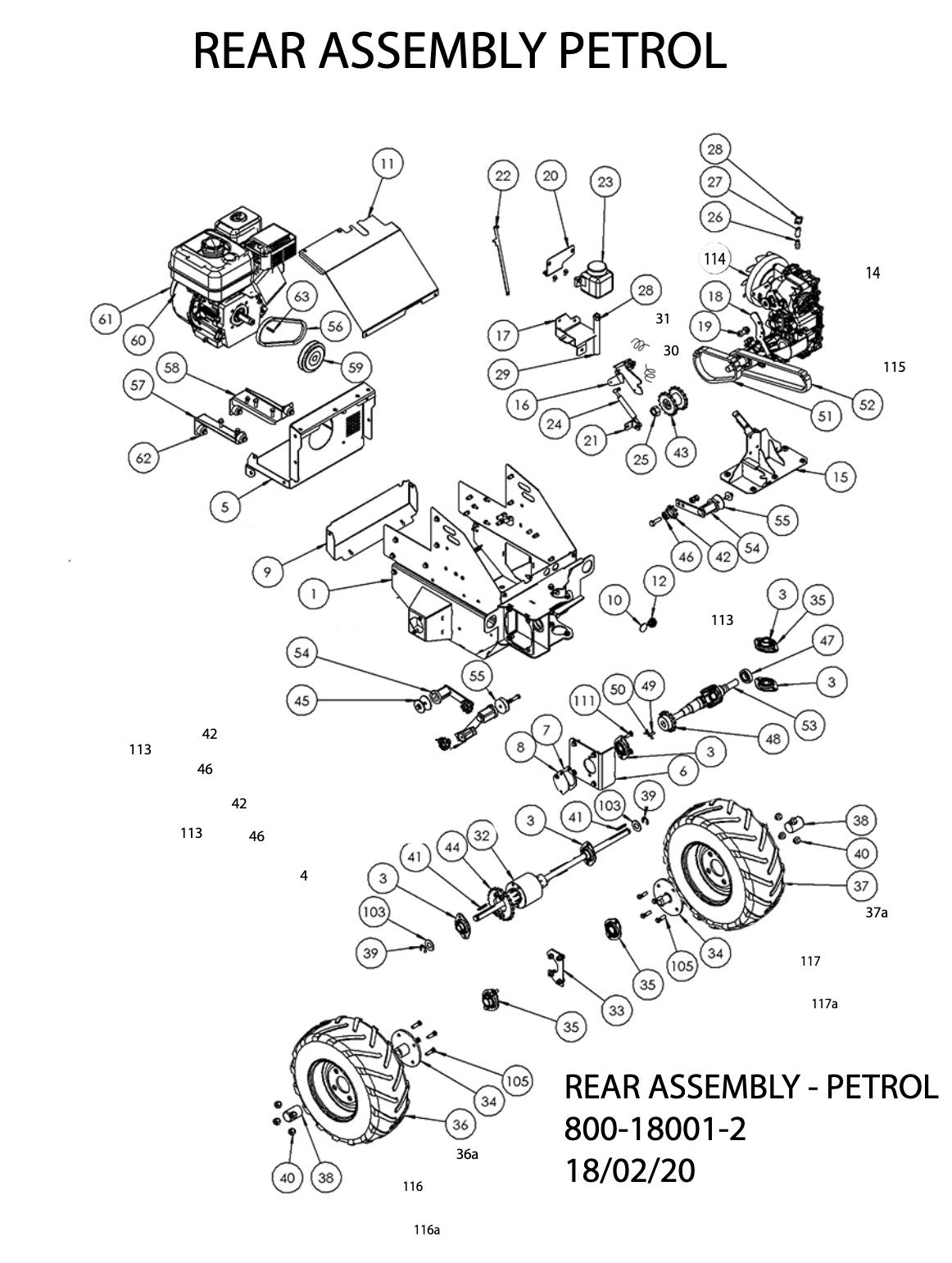 Rear Assembly Petrol Diagram
