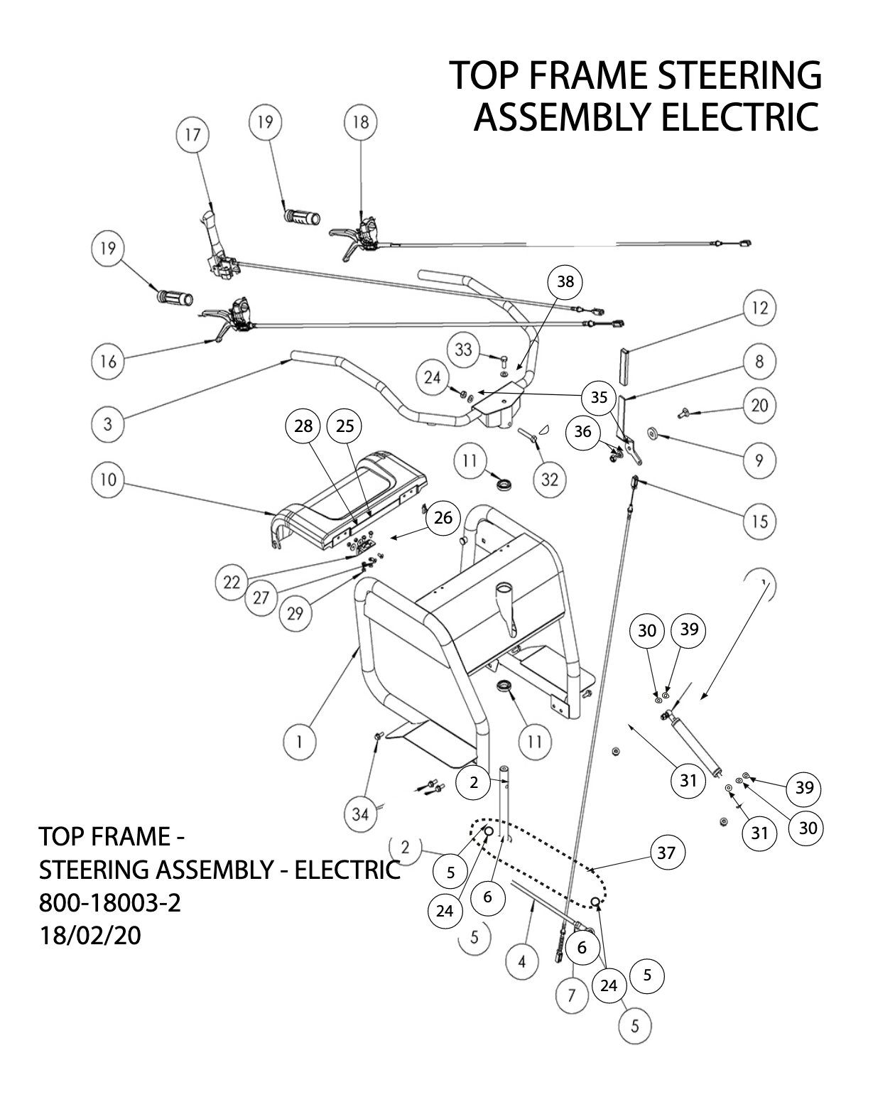 Top Frame Steering Assembly Electric