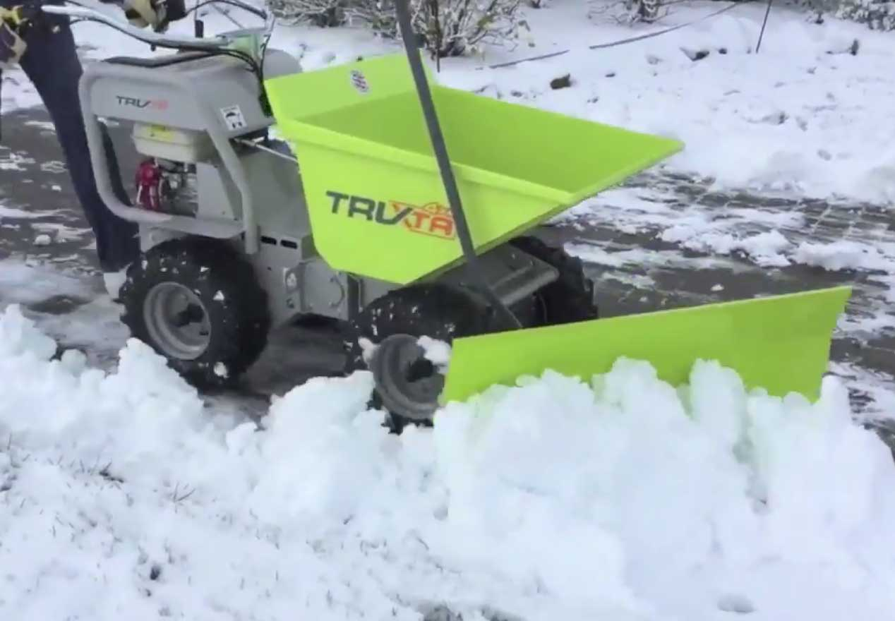 Truxta Snow Plough Attachment working